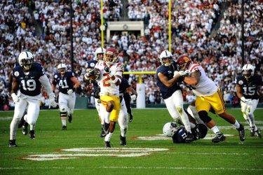 USC Trojans Adoree Jackson scores a touchdown in the Rose Bowl