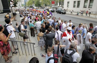 Couples React After Entering into Same Sex Marriage in New York