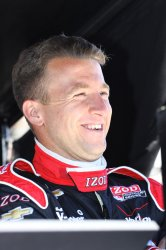 AJ Allmendinger passes rookie test for Indianapolis 500 in Indianapolis, Indiana.