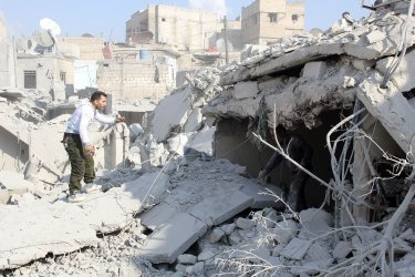 Dozens Killed After  Airstrikes In Syria