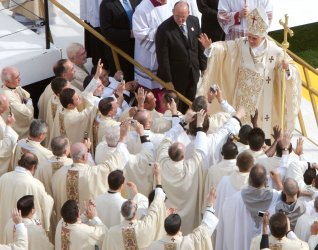 Pope Benedict XVI holds mass at Yankee Stadium in New York