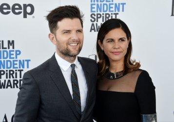 Adam Scott and Naomi Scott attend Film Independent Spirit Awards in Santa Monica, California
