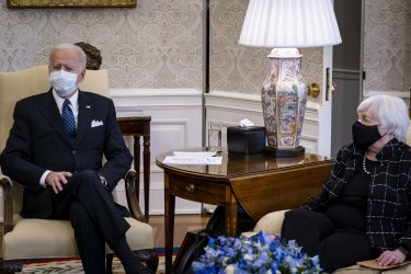 Biden Meets with Business Leaders at the White House