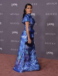 Salma Hayek attends the LACMA Art+Film gala in Los Angeles