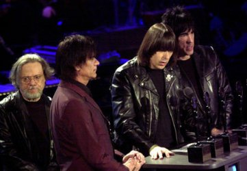 The Ramones attend the 17th Annual Rock and Roll Hall of Fame Induction ceremonies