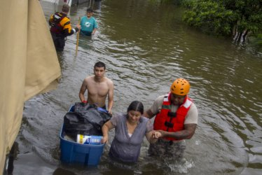 Flooding, Repairs, and Rescues in the Aftermath of Hurricane Harvey in Texas