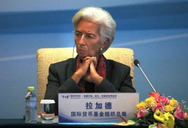 IMF's Lagarde attends 1+6 press conference in Beijing, China