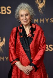 Margaret Atwood backstage at the 69th Primetime Emmy Awards in Los Angeles