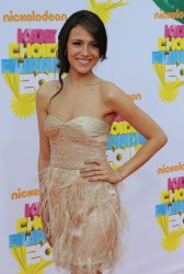 Italia Ricci arrives at the Nickelodeon Kids Choice Awards in Los Angeles