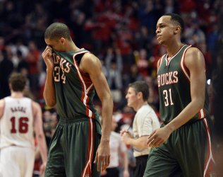The Milwaukee Bucks Play the Chicago Bulls in the First Round of the NBA Playoffs in Chicago