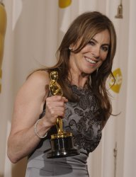 Kathryn Bigelow wins Best Director at the Academy Awards in Hollywood