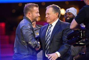 Patriots Bill Belichick at Super Bowl Opening Night in Atlanta