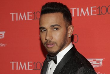 Lewis Hamilton arrives at the TIME 100 Gala in New York