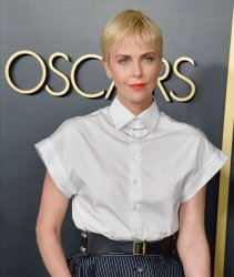 Charlize Theron attends the Oscar nominees luncheon in Los Angeles