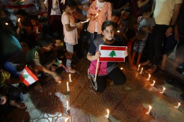 Palestinians Show Their Support for the Lebanese People