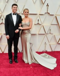 Tom Hanks and Scarlett Johansson arrive for the 92nd annual Academy Awards in Los Angeles