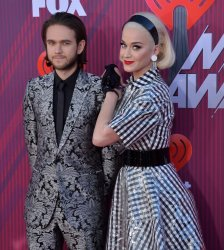 Katy Perry and Zedd attend the iHeartRadio Music Awards in Los Angeles