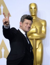 Andy Serkis backstage at the 88th Academy Awards in Hollywood