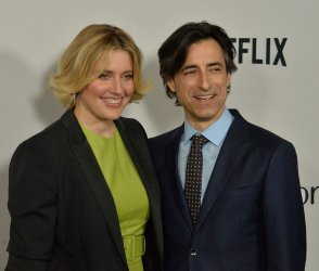 """Noah Baumbach and Greta Gerwig attend the """"Marriage Story"""" premiere in LA"""