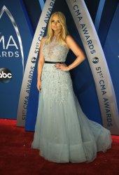Miranda Lambert arrives for the 2017 CMA Awards in Nashville