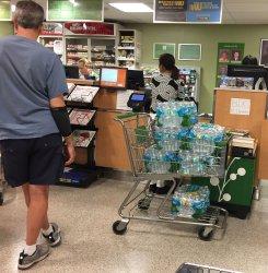 Empty Shelves in Supermarket as Hurricane Irma approaches Florida