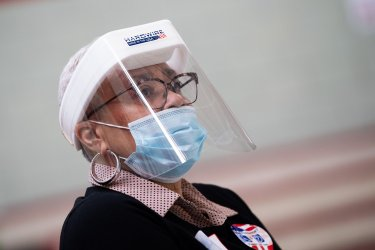 Voters cast their ballots during the Coronavirus pandemic in Maryland
