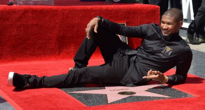Usher honored with star on Hollywood Walk of Fame in Los Angeles