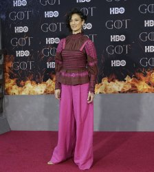 Indira Varma at the Season 8 premiere of Game of Thrones