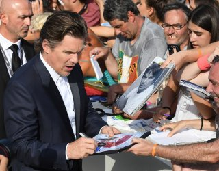 Ethan Hawke attends the premiere of First Reformed at the 74th Venice Film Festival