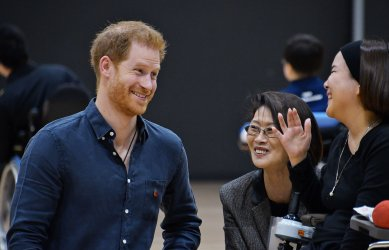 Prince Harry,  HRH Duke of Sussex visits para sports training centre in Tokyo