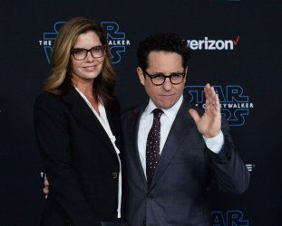 """J.J. Abrams and Katie McGrath attend """"Star Wars: The Rise of Skywalker"""" premiere in Los Angeles"""