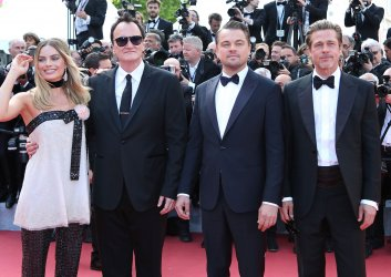 Robbie, Tarantino, DiCaprio and Pitt attend the Cannes Film Festival