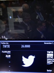 Twitter IPO at the NYSE