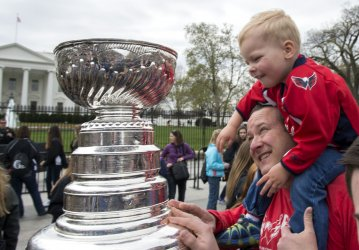 The Stanley Cup Visits the White House