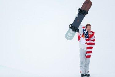 Shaun White in Men's Halfpipe finals at Pyeongchang 2018 Winter Olympics