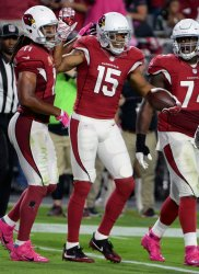 Cardinals' Floyd celebrates touchdown