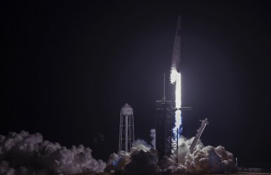 SpaceX Falcon 9 with Crew-1 Launches from Kennedy Space Center in Florida
