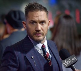 Tom Hardy attends 'Venom' premiere in Los Angeles