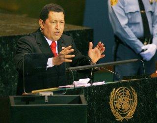 Venezuelan President Hugo Chavez Frias addresses General Assembly at United Nations
