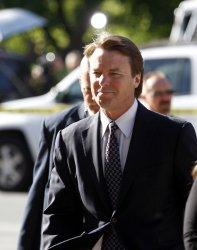 Former U.S. Senator and presidential candidate John Edwards on trial in Greensboro, North Carolina