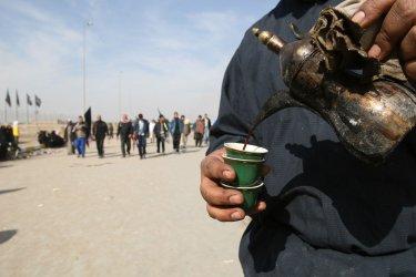 Shi'ite pilgrims march to Kaebala to mark Abain in Iraq