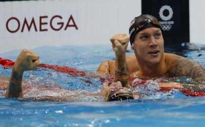 USA's Dressel wins Men's 50m Freestyle Final with Olympic record 21.07