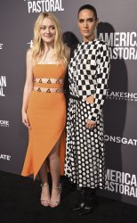 "Dakota Fanning and Jennifer Connelly attend a screening of ""American Pastoral""  in Beverly Hills, California"