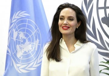 Angelina Jolie at the United Nations Headquarters in New York