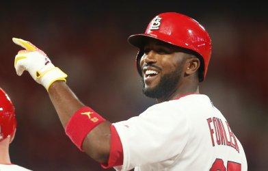 St. Louis Cardinals Dexter Fowler hits RBI single