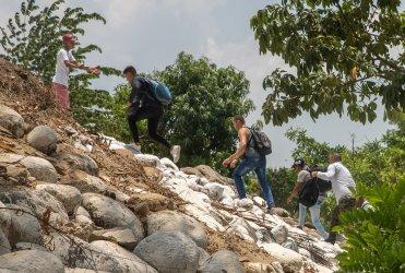 Smuggler and Migrants in Ciudad Hidalgo