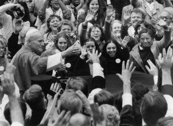 Pope John Paul II visits Trinity College in Washington DC