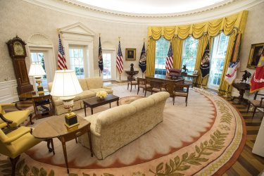 Oval Office updates at the White House