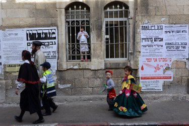 Jews Celebrate Purim In Jerusalem