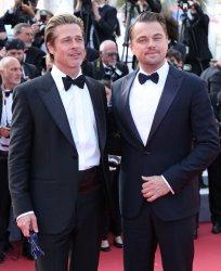 Leonardo DiCaprio and Brad Pitt attend the Cannes Film Festival
